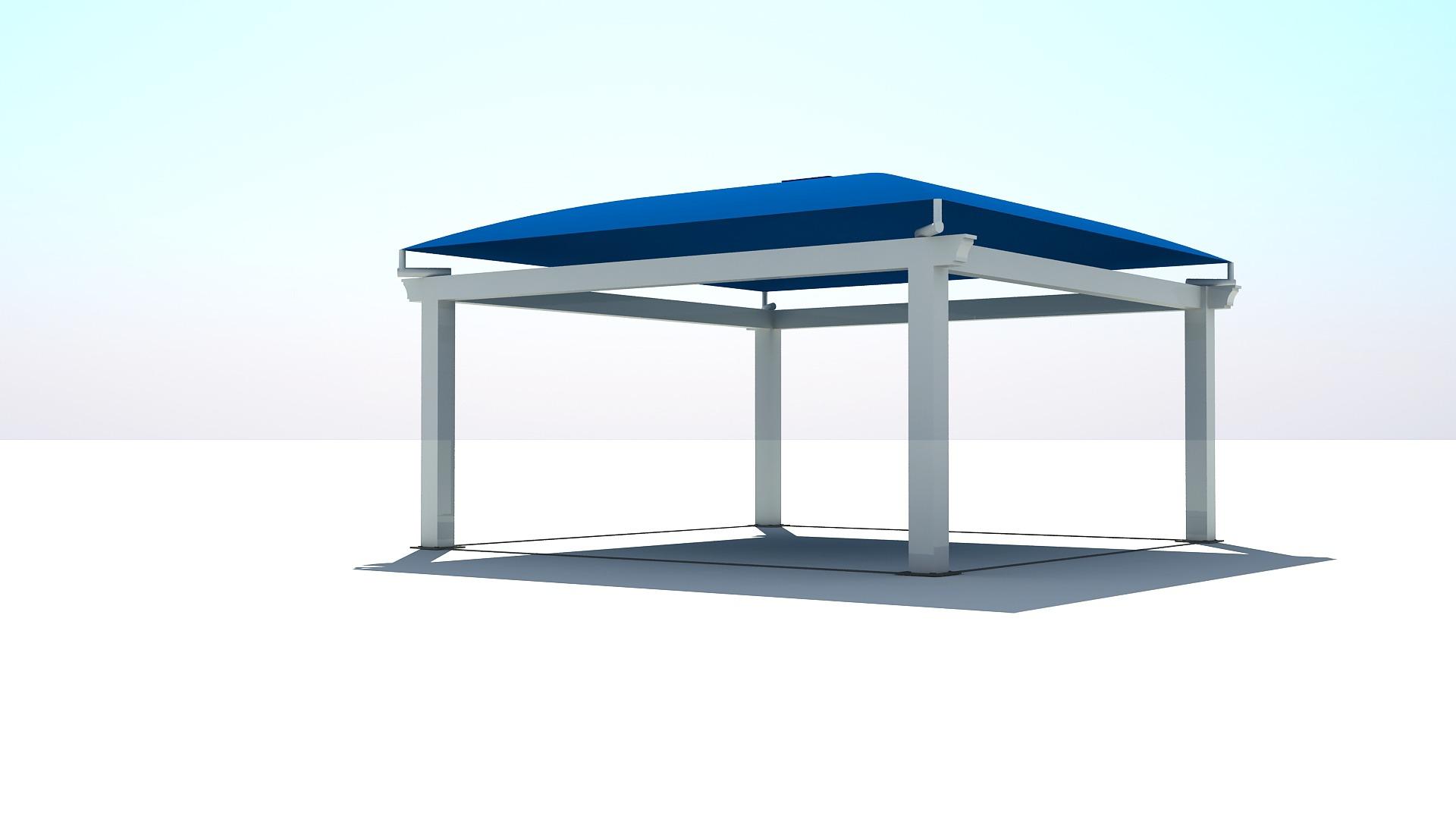 Modelo Pérgola (5mx5m) azul B