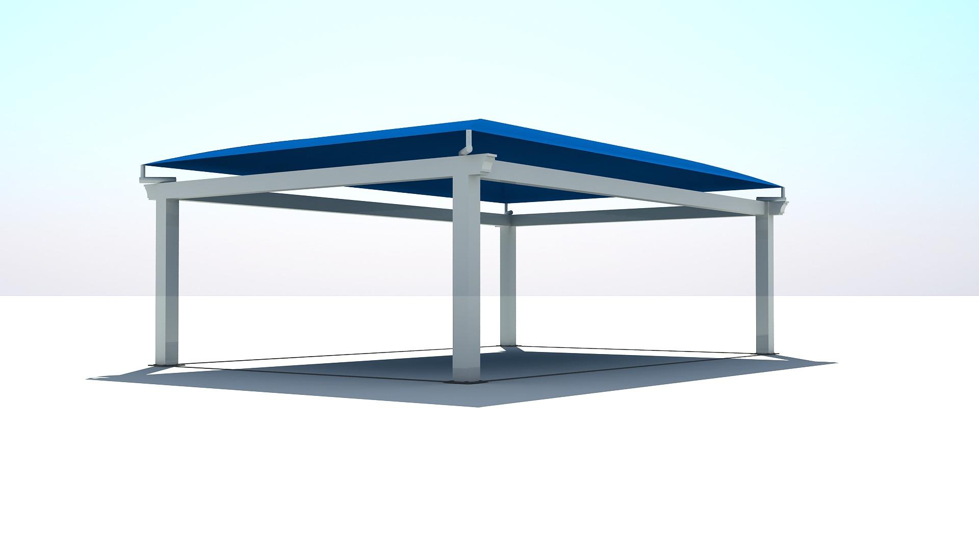 Modelo Pérgola (7.5mx5m) azul B